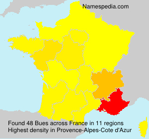 Surname Bues in France