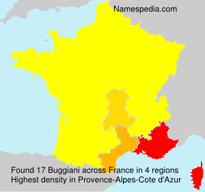 Surname Buggiani in France