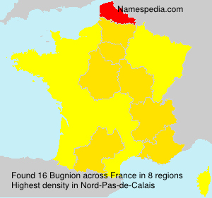 Surname Bugnion in France