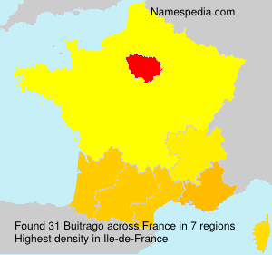 Surname Buitrago in France