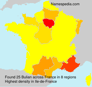 Surname Bulian in France