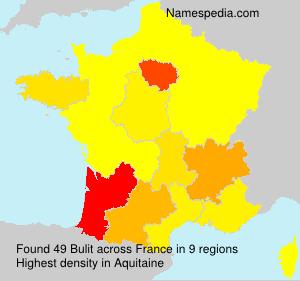 Familiennamen Bulit - France