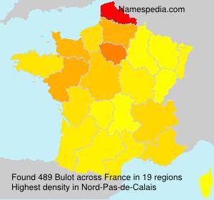 Surname Bulot in France