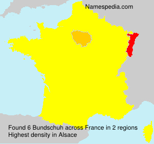 Surname Bundschuh in France