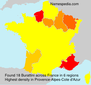 Surname Burattini In France