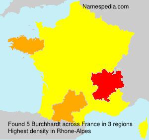 Surname Burchhardt in France