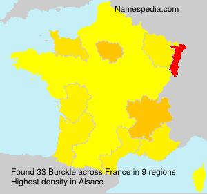 Surname Burckle in France