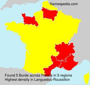 Familiennamen Burde - France