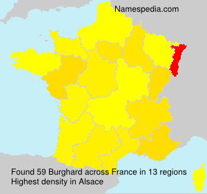 Surname Burghard in France