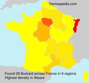 Familiennamen Burkard - France