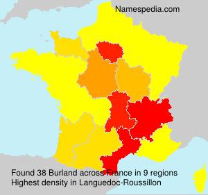 Familiennamen Burland - France
