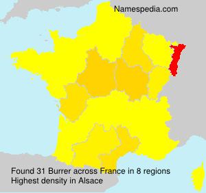 Surname Burrer in France