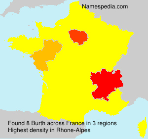 Surname Burth in France