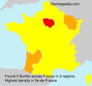 Surname Burthe in France
