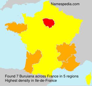 Surname Buruiana in France