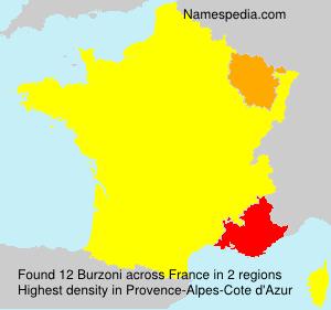Surname Burzoni in France