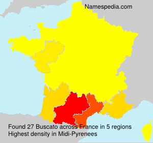 Surname Buscato in France