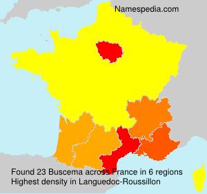 Familiennamen Buscema - France