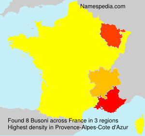 Surname Busoni in France