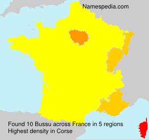Familiennamen Bussu - France