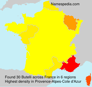 Surname Butelli in France