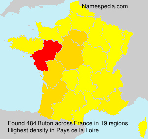 Surname Buton in France