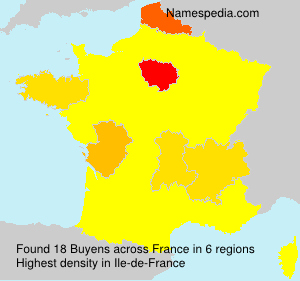 Surname Buyens in France