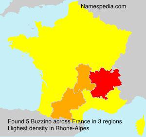 Familiennamen Buzzino - France
