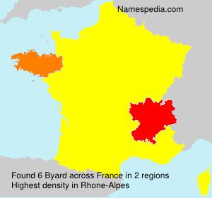 Surname Byard in France