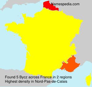 Surname Bycz in France