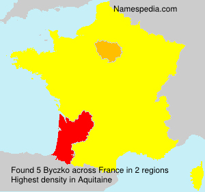 Surname Byczko in France