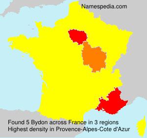 Surname Bydon in France