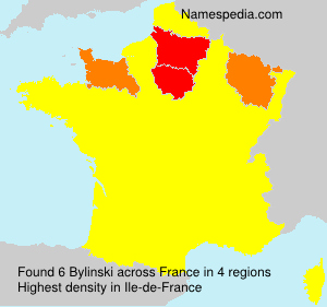 Surname Bylinski in France