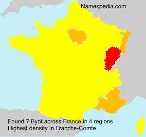 Surname Byot in France
