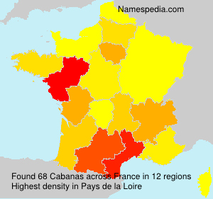 Surname Cabanas in France
