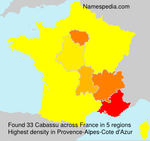Familiennamen Cabassu - France