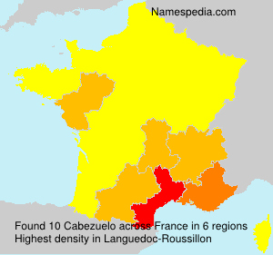 Surname Cabezuelo in France