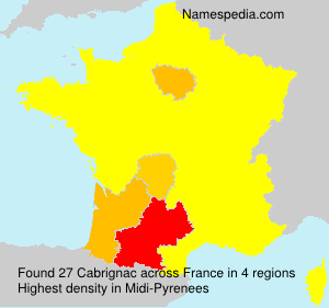 Surname Cabrignac in France
