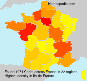 Surname Cadot in France
