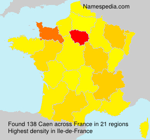 Surname Caen in France