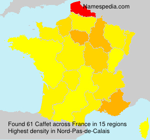 Surname Caffet in France