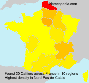 Surname Caffiers in France