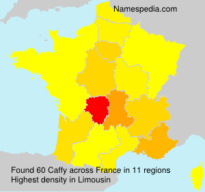 Surname Caffy in France
