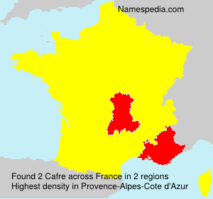 Surname Cafre in France