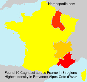 Surname Cagnacci in France