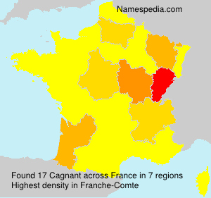 Surname Cagnant in France