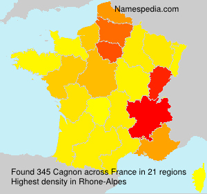 Familiennamen Cagnon - France