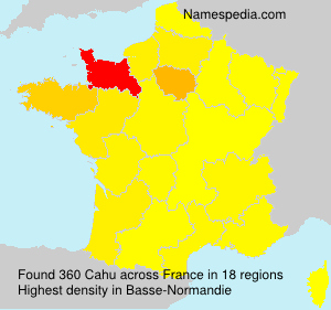 Surname Cahu in France