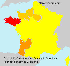Surname Cahut in France