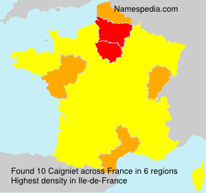 Surname Caigniet in France